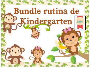 Bundle Rutina Kinder - Motivo Monitos