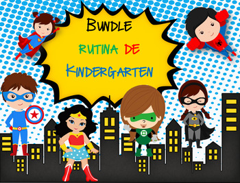 Bundle Rutina Kinder Super Heroes