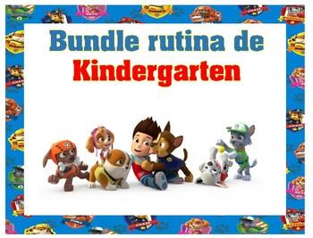 Bundle Rutina Kindergarten Paw Patrol