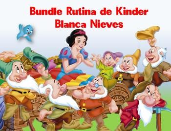 Bundle Rutina de Kinder Motivo Blanca Nieves