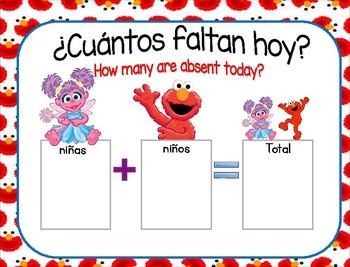 Bundle Rutina de Kinder Motivo Elmo y sus amigos