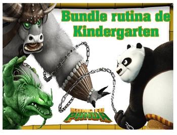 Bundle Rutina de Kinder Motivo Kungfu Panda