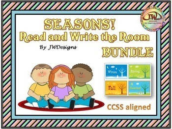 SEASONS Write the Room Seasons Bundle for Spring, Summer, Winter and Fall