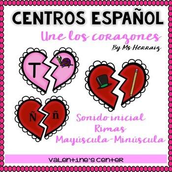 BUNDLE San Valentín: sílabas,lectura,rimas,sonidos...7 CENTROS preK-Kinder