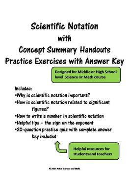Bundle - Scientific Notation and Task Cards - Middle / High School Science  Math