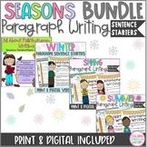 Growing Bundle: Seasons Paragraph Writing Sentence Starters Fall, Winter, Spring