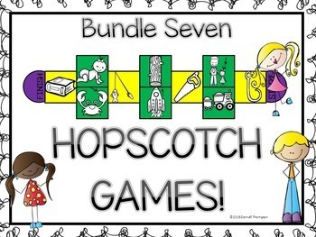 """Phonics Hopscotch Game """"Bundle of Blends and Vowel Pairs"""" (Blends and Vowels)"""