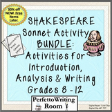 Shakespeare BUNDLE: Introduction, Analysis & Writing Activities, Gr 8,9,10,11,12