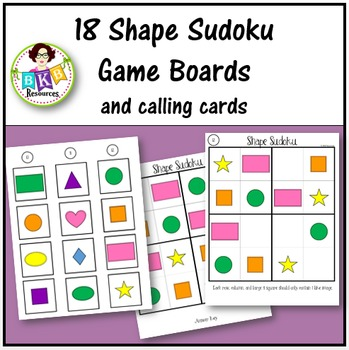 Shape Sudoku Bundle ● Game Boards ● Puzzles ● No Prep ● Math Centers