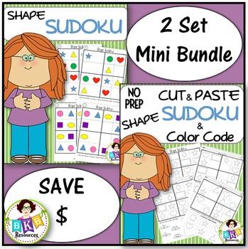 Shape Sudoku Bundle ● Game Boards ● Puzzles ● No Prep ● Ma