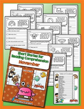 Fall Bundle - Short Stories for Reading Comprehension (Sept/Oct/Nov)