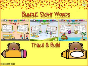 Bundle Sight Words-Trace&Build