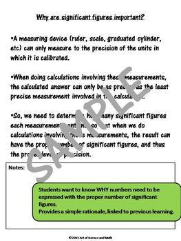 Bundle - Significant Figures and Task Cards - High School Science and Math