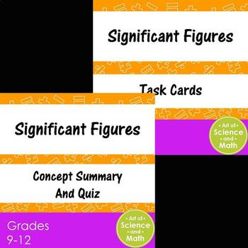 Bundle - Significant Figures and Task Cards - High School