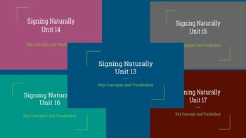 Bundle: Signing Naturally Units 13-17 Key Concepts and Vocabulary (Level 2)