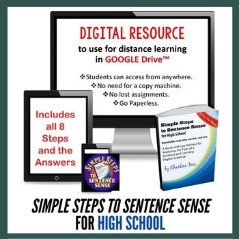 Simple Steps to Sentence Sense for High School Google Drive Interactive Workbook
