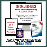 Simple Steps to Sentence Sense High School Grammar Interactive Notebook