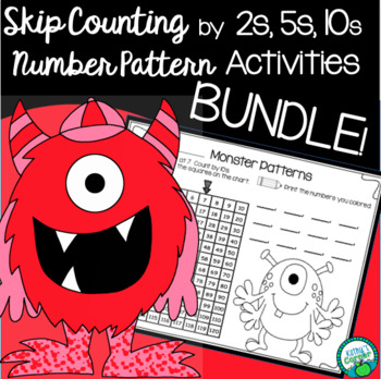 Bundle Skip Counting by 2s, 5s, and 10s Practice Pages and Center Activity