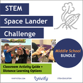 Distance Learning Bundle: Space Lander STEM Activity (Midd