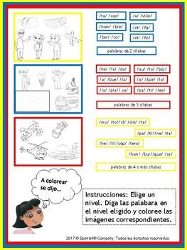 Syllable Segmentation & Awareness (Bundle: English & Spanish Versions)