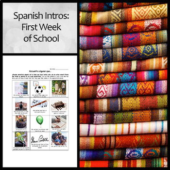 Bundle: Spanish First Week of School/Introduction Activities