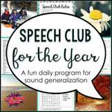 Bundle: Speech Club ALL YEAR (Articulation for Older Students)