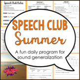 Speech Club Summer (Articulation for Older Students)