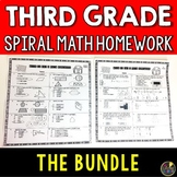 3rd Grade Math Spiral Review BUNDLE