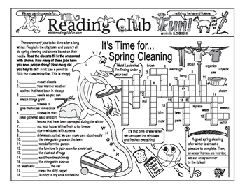 Bundle: Spring Cleaning and Sports Two-Page Activity Set and Puzzling Bookmarks