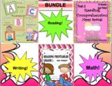Bundle Spring Distance Learning reading comprehension math writing worksheets