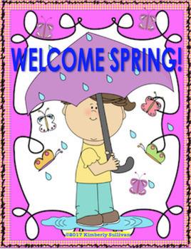 Bundle  Spring ELA and MATH  Printables  Grades 2 -4