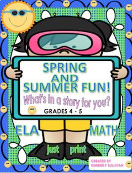 Bundle Distance Learning Spring Math and ELA! Grade 4