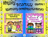 Bundle! Spring Reading Comprehension Passages and Questions  READ  COLOR  DRAW
