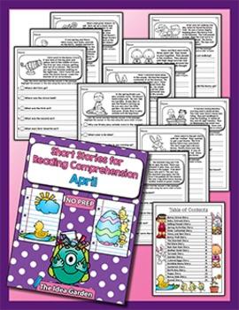 Bundle Spring - Short Stories for Reading Comprehension (Mar/Apr/May)