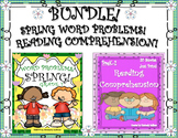 Bundle! Spring Word Problems + Reading Comprehension passages and questions