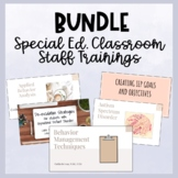 Bundle Staff Trainings for Special Education and Behavior