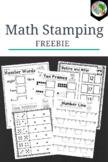 Stamping Math - Freebie