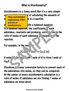 Bundle - Stoichiometry and Task Cards - High School Science