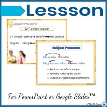Bundle Subject Pronouns lesson-game-practice-activities