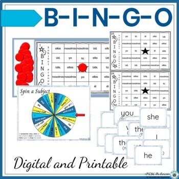 Subject Pronouns Bundle lesson (Spanish): game/practice/activities
