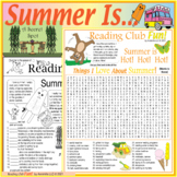 Summer Activities & Appreciation Two-Page Activity Set and