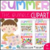 Bundle Summer Clipart {Sea animals} {Rainbow Whales} {kids}