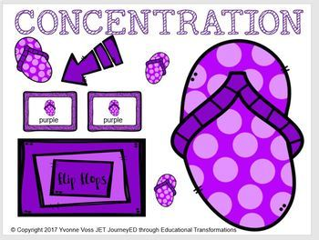 Bundle Summer Concentration Learning Colors