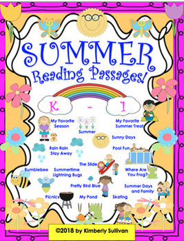 Bundle! Summer reading comprehension passages and questions!   Math Games!