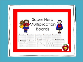 Multiplication Fact Boards and Flash Cards Bundle {Super Hero}