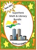 Superhero Math Activities, Pre K Kindergarten Superhero Literacy Activities