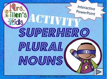 *Bundle* Superhero Plural Nouns - PowerPoint Lesson and Activity