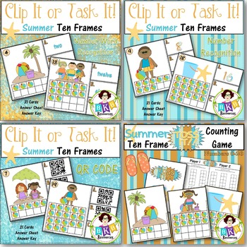 Bundle! - Ten Frame Clip Cards or Task Cards!