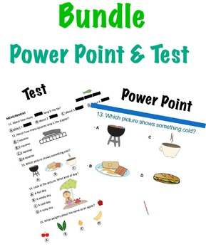 Bundle: Test, Power Point: Questions for 1st ITBS Terranova or similar Test