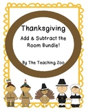 Bundle-Thanksgiving Add & Subtract the Room {Common Core Center!}